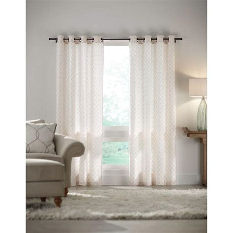 home decorators collection 48 in 84 in l 7 16 in home decorators collection white grommet curtain 52 in