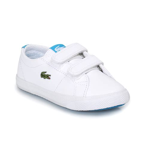 infant size 3 shoes lacoste marcel white blue infant trainers sneakers shoes