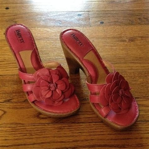 born flower sandals 63 shoes born heeled sandals with pink flower from