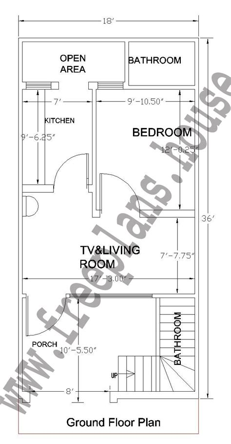 18 square meters to feet 18x36 feet ground floor plan plans pinterest photo