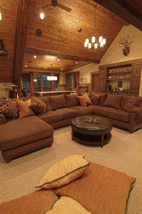 resort lodge style living room home