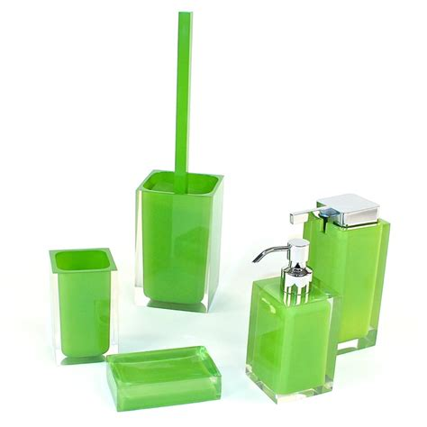 Gedy Ra300 04 Bathroom Accessory Set Rainbow Nameek S Lime Green Bathroom Accessories