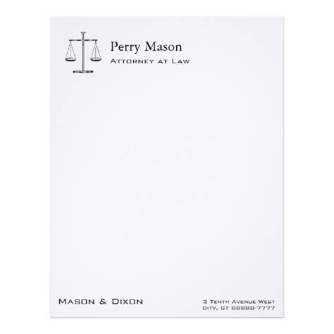 attorney letterhead custom attorney letterhead templates