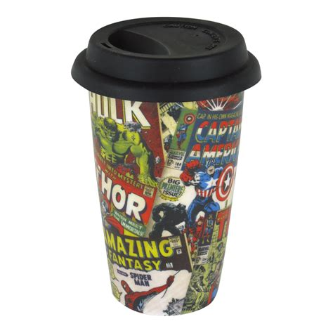 Mug Keramik Ceramic Marvel Original marvel retro comic covers ceramic travel mug thermal