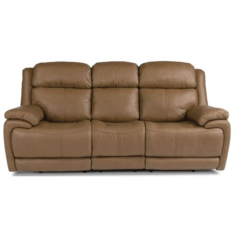 power reclining sofa with power headrest flexsteel latitudes elijah contemporary power reclining