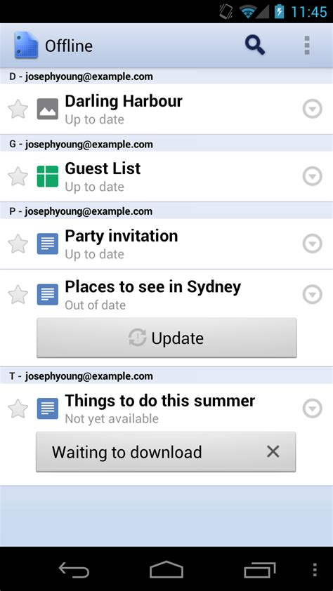 offline for android mobile updates to docs app for android miadria