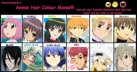 anime hair color quiz for guys weft hair extensions