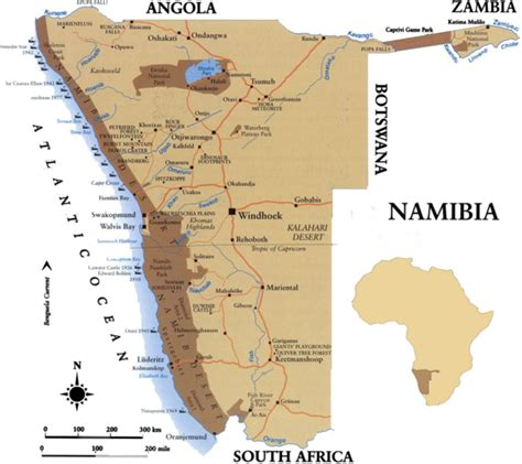 namibia map namibia map namibia mappery