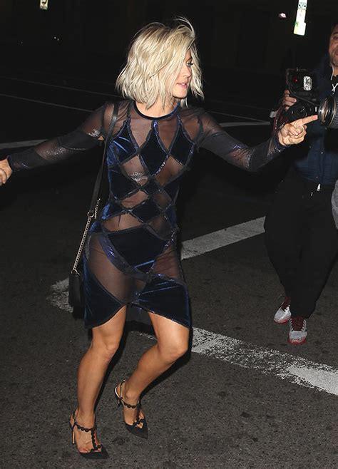 emily ratajkowski halloween dancing pic julianne hough nip slip exposes breast in sheer