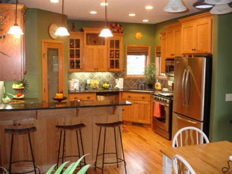 Paint Color Ideas For Kitchen Best Paint Colors For Kitchens With Oak Cabinets