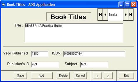Html Table Caption Creating Database Using Ado Control In Visual Basic