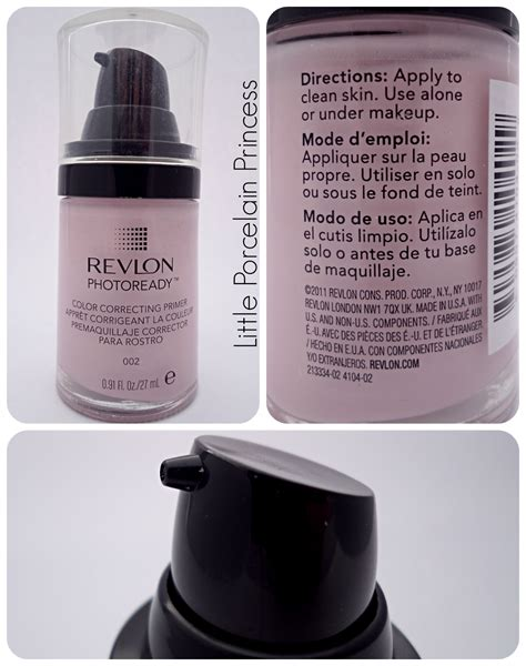 Revlon Photoready Correcting Primer porcelain princess review revlon photoready color