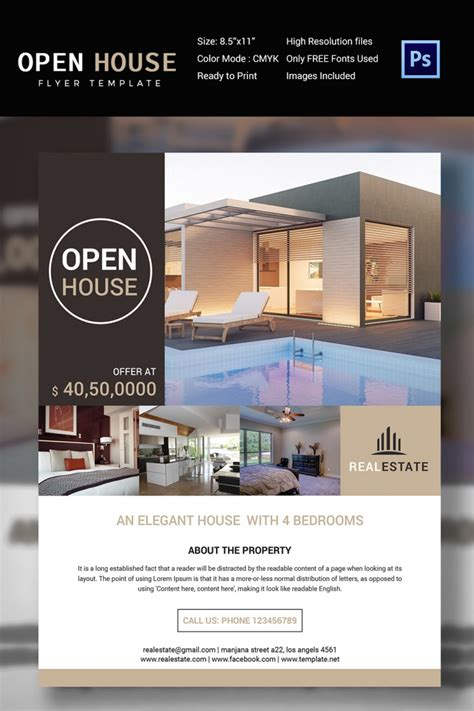 27 open house flyer templates printable psd ai vector