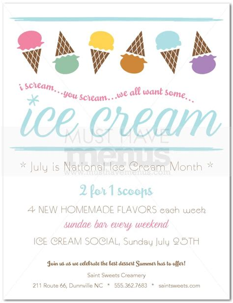 Ice Cream Social Flyer Word Template Free Smartrenotahoe Com Social Flyer Word Template