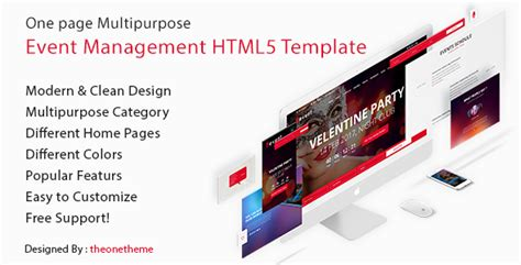 event management html template uevent one page multipurpose event management html5