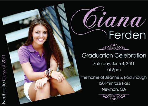 template for graduation invitations ideas