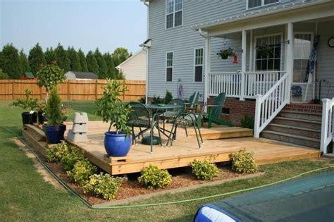 off backyard ground level deck deck plans pinterest ground level