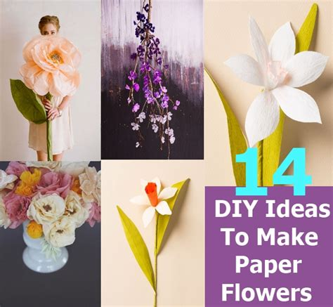How To Make Paper At Home - 14 diy ideas to make beautiful paper flowers for home