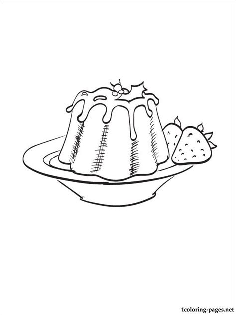 colouring pages christmas pudding free pudding coloring pages