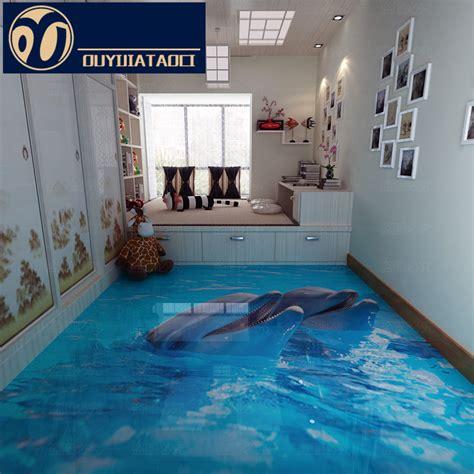 aquarium in bedroom new personality aquarium room 3d floor crystal full body tiles bedroom decoration
