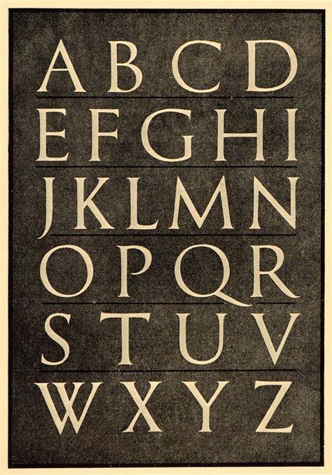 roman alphabet font typeface trajan column print