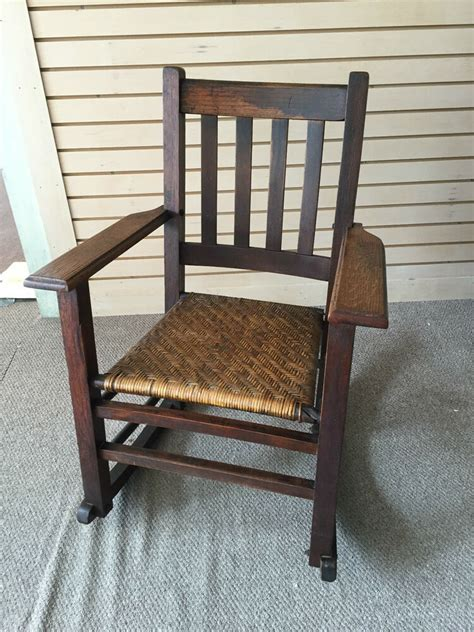 Style Rocking Chair - gorgeous antique mission style oak rocking chair with