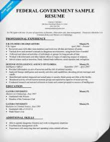 resume for a government job