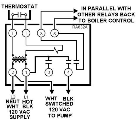 honeywell ra832a relay wiring diagram get free image