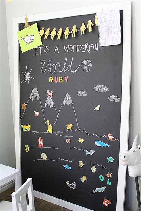 diy chalkboard for playroom diy magnet chalkboard withheart