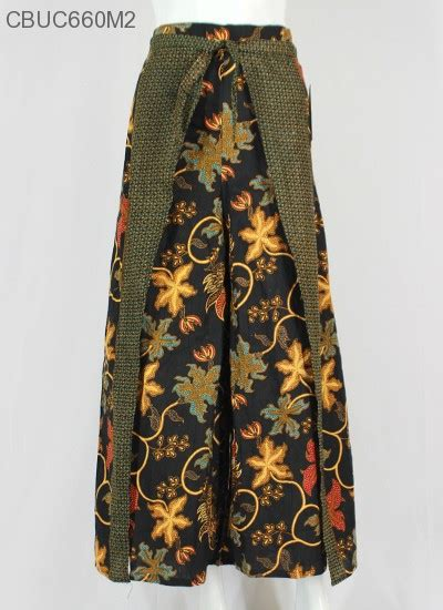 Kulot Murah Elegan Berkualitas Carla celana kulot rok batik motif anggur celana murah batikunik