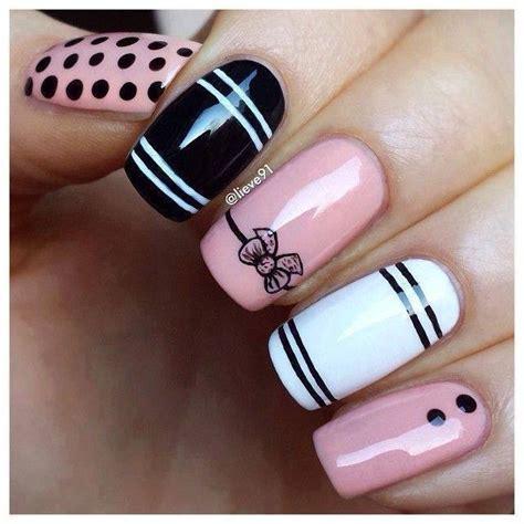 imagenes de uñas rosadas 75 creativos dise 241 os de u 241 as decoradas con puntos f 225 ciles