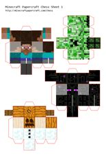 Minecraft Papercraft Chess - minecraft papercraft chess birthday ideas