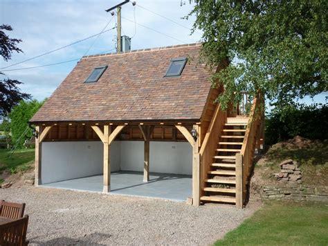 Garages With Living Space Above oak framed garage castle ring oak frame