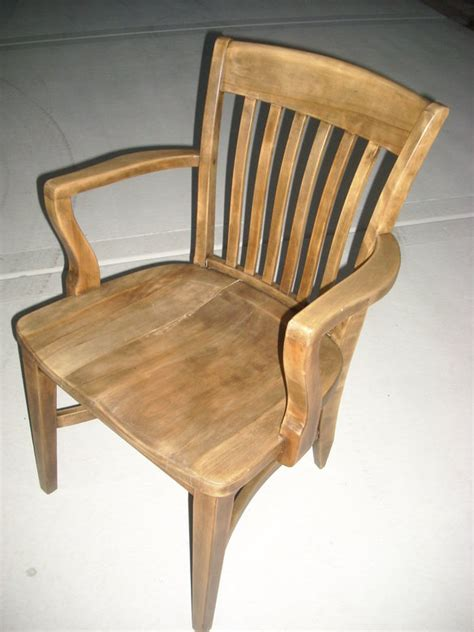 Vintage Wood Office Chair by Antique Vintage Solid Wood Office Chair In Mt Prospect