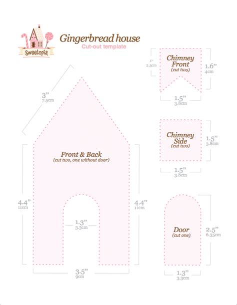 11 gingerbread house templates free pdf document