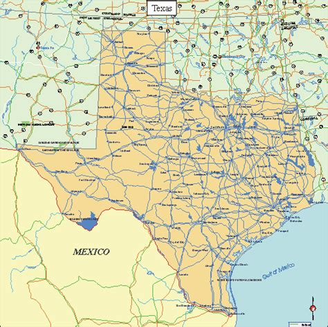 texas map printable printable texas maps