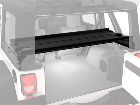 jeep wrangler 2 door storage slimline ii interior rack jeep wrangler jk 5 door