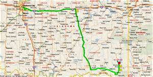 directions from oklahoma city to backwoods vacations cabins