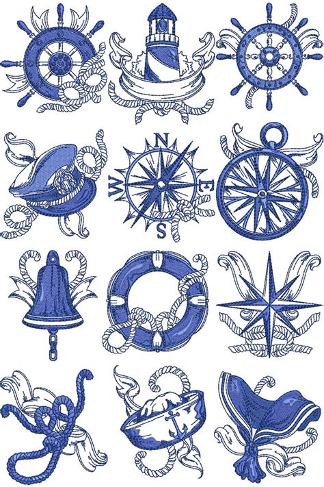 nautical designs chevron nautical machine embroidery designs by sew swell