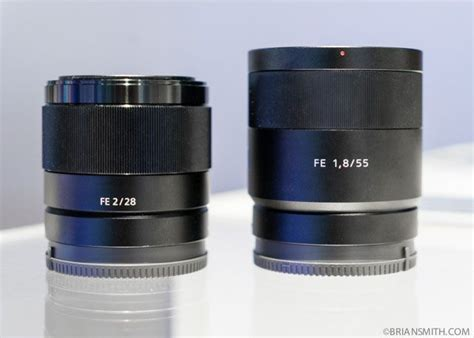 Sony Alpha A7 Ii Sony Fe 55mm F1 8 sony fe 28mm f2 and 55mm f1 8 lenses at ces 2015 my