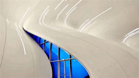 zaha hadids fluid  cultural center  azerbaijan