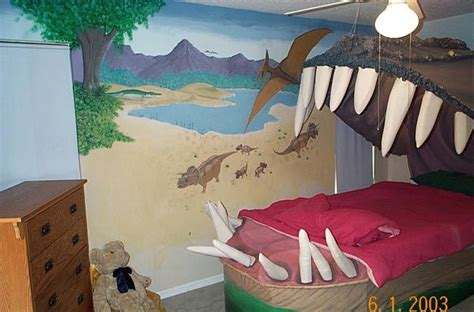 Kids Bedrooms With Dinosaur kids bedroom design idea sleeping within a dino s jaw