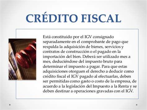 sunat lima peru que es el credito fiscal exposicion del igv