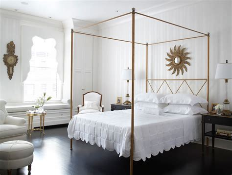 gold canopy bed gold canopy bed transitional bedroom eva quateman