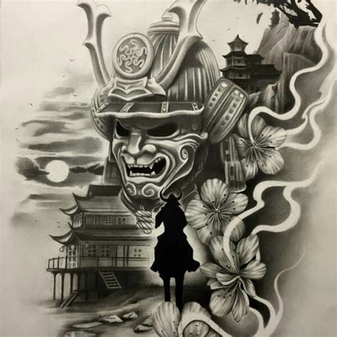 japanese samurai mask tattoo designs 13 best samurai maschere images on japanese