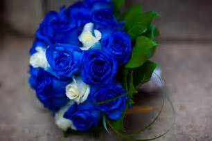 blue flowers for wedding bouquet bridal blue bridal bouquet