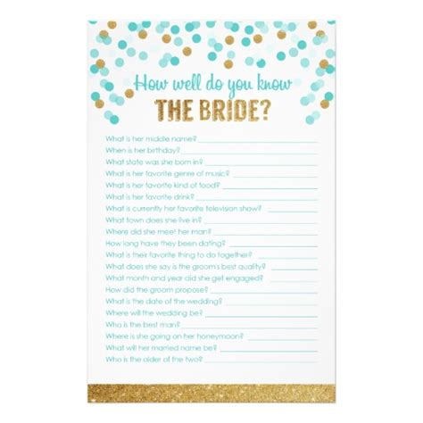 how well do you the template bridal shower how well do you the
