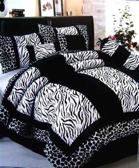 black white zebra giraffe velvet comforter set queen ebay