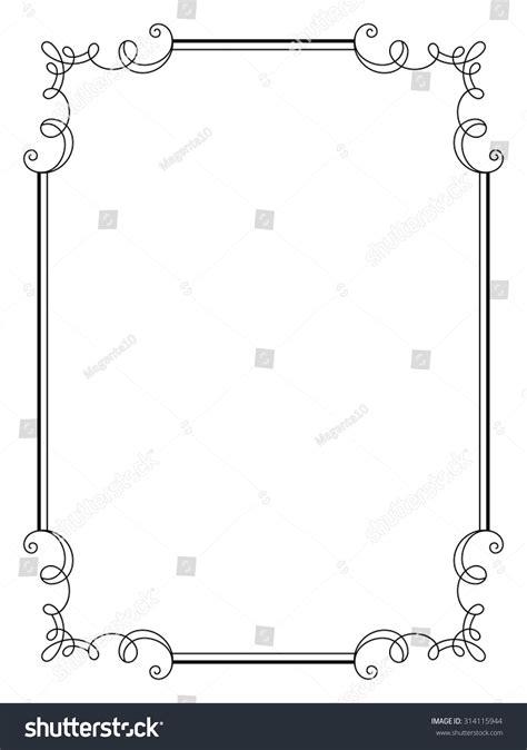design rectangle html vintage calligraphic frame decorative design element in