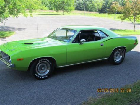 Handgrip Barracuda sell used 1972 plymouth cuda 340 4 speed pistol grip a c numbers matching in rome new york